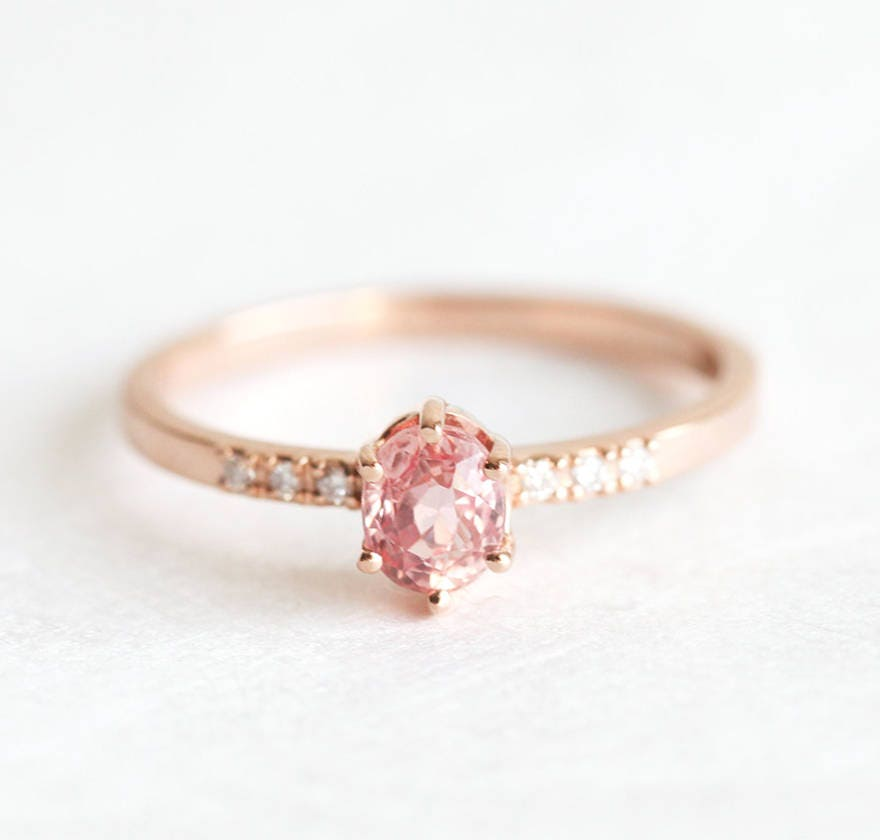 rose gold sapphire engagement ring simple engagement ring. Black Bedroom Furniture Sets. Home Design Ideas