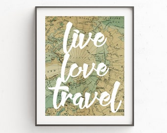 Travel Quotes, Travel Printable Art, Map Prints, Art Prints, Adventure, Rustic Home Decor, World Map Wall Art, Quote Prints, Wall Decor