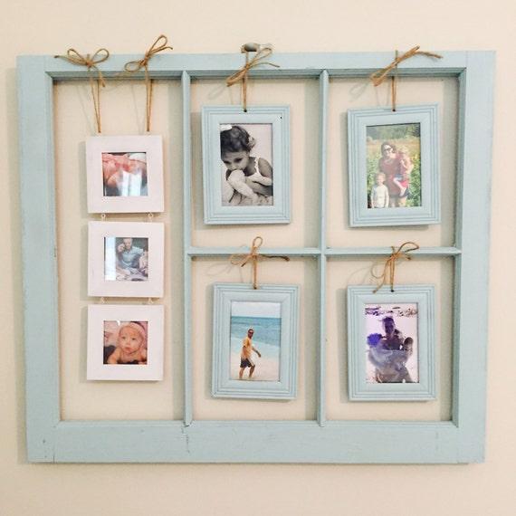 Vintage Window Picture Frame Chalk Paint 3x3 & 4x6 Frames