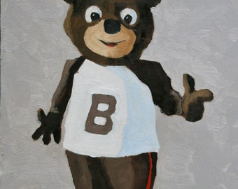 Cubby, the Brown University Bear - Fine Art Print