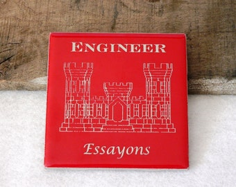 US Army Corps of Engineers Castle Engraved Ceramic Coaster