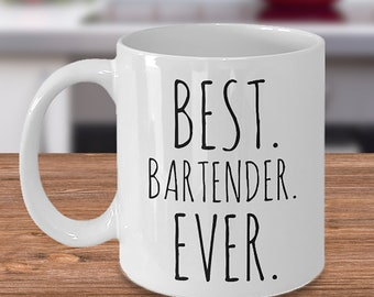 Best Bartender Ever Personalized Mug | Custom Bartender Gift | Gift for Bartender | Barkeeper Mug | Under 20 | Birthday Gift | Tavern | Bar