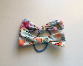 Floral hair bow duo (set of two)
