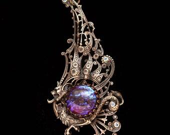 Dragon Necklace Dragons Breath Necklace Dragon Pendant Necklace Dragons Breath Opal