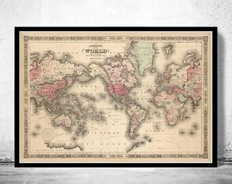 Beautiful world map vintage atlas 1914 mercator projection old world map atlas vintage world map 1864 mercator projection gumiabroncs Images