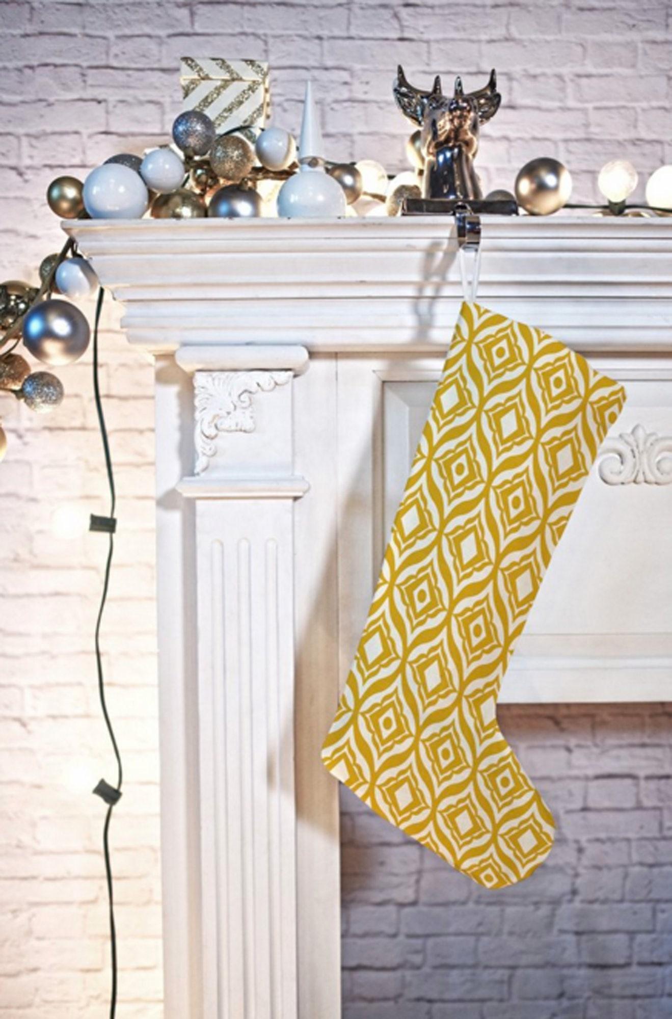Geometric Christmas Stocking // Christmas Decor // Holiday