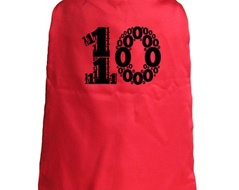 Birthday Cape - 10th Birthday Superhero 10 year old Cape - Kids Cape - Reversible Red / Blue - Super hero - great birthday gift or present