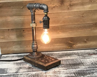 Hand Crafted Vintage IndustriaI Style Desk Lamp for your Home or Office