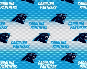 NFL Carolina Panthers Blue/White Cotton Fabric by the yard