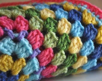 PIF Granny Square Baby Blanket Fiesta