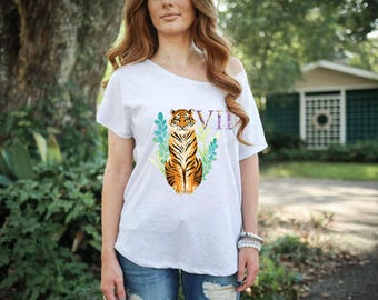 Mike VII LSU Watercolor Women's T-Shirt