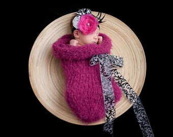 Newborn Baby Cocoon with Bow - Made to Order