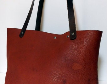 Bison Leather Tote Bag American Buffalo Leather Bag Leather Bags and Purses