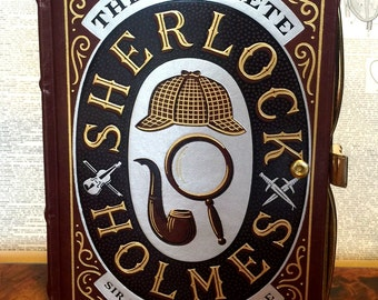 Book Clutch The Complete Sherlock Holmes by Sir Arthur Conan Doyle Mystery Book Purse Clutch Made to Order