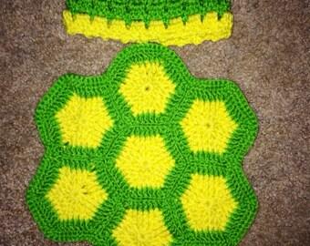 Cute newborn turtle blanket