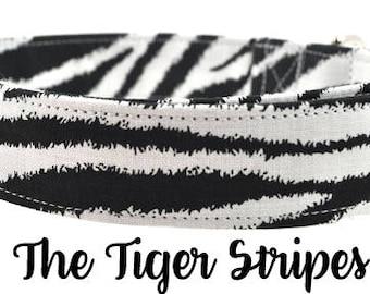 Tiger Stripes in Black/White - Dog Collar