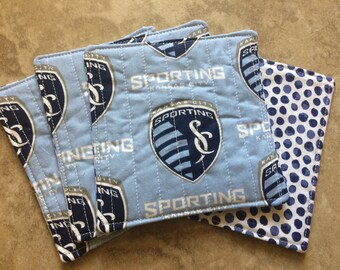 Sporting Kansas City quilted drink coasters