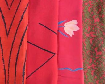 Silk Fabric, Fat Quarters, Sari Silk, FQ 216