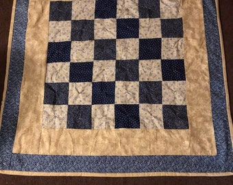 Patchwork Hand Tied Lap Quilt