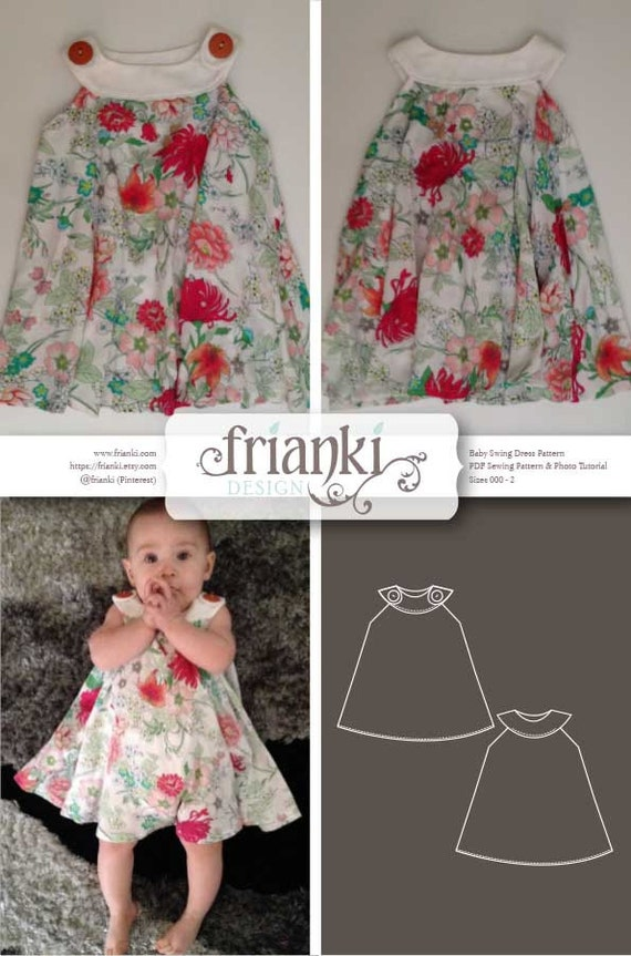 Baby Girl Swing Dress PDF Sewing Pattern and Photo Tutorial