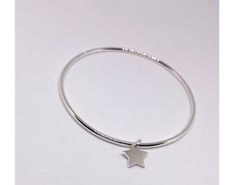 Sterling silver 925 star bangle