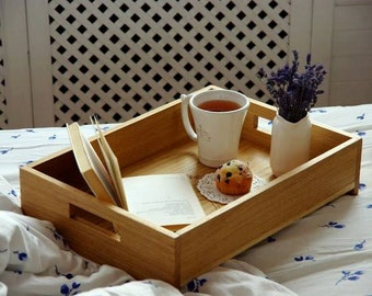 wooden breakfast tray (with hands on woodcarving)