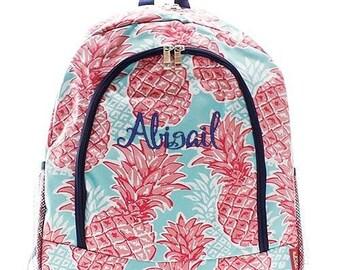 Monogrammed Backpack Personalized Pineapple Punch Backpack Personalized Backpack Kids Backpack Girls Backpack Boys Backpack