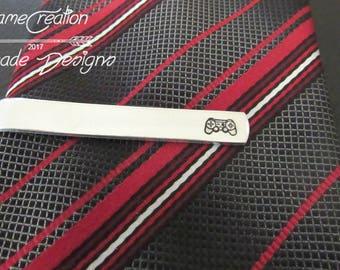 Gamer Tie Bar, Personalized Tie Clip, Custom Tie Bar, Groomsman Gift, Bestman Gift, Groom Gift, Gift for Boyfriend, Gaming Gift