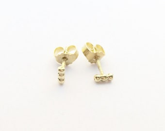 Earrings Small, fine & delicate from 585er yellow gold