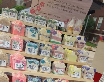 Wholesale Artisan Soap/ Leave me a note/3.25 a piece/50 minimum/  Thank you so much!Soap Esteem Co/ Many  Soaps to Pick From!