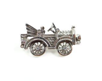 Antique Car Brooch, Antique Car Pin, Automobile Brooch, Rhinestone car, Car Brooch, Car Pin