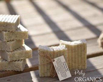 Organic Rosemary and Peppermint Scrub Soap (Organic Soap, Vegan soap, All natural soap, Handmade Soap From Scratch, made in Canada)