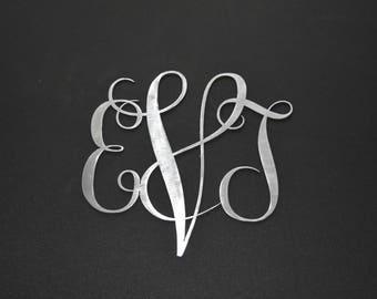 Metal Monogram Sign Custom  / Personalized Monogram Sign / Wedding Gift / Anniversary gift / House warming gift