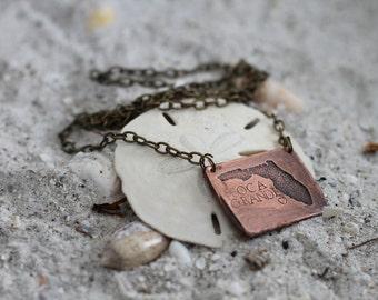 Florida Copper Necklace - Florida State Jewelry For Her - Beach Gift Ideas For Her - Copper Necklace - Beach Wedding Bridesmaid Jewelry
