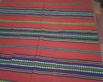 172x233cm  5.7x7.7 Turkish hand knotted kilim  wool  40 years