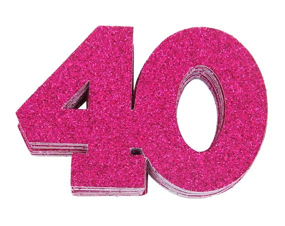 40th Birthday Confetti 40th Anniversary Confetti Fortieth Birthday