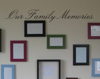 Our Family Memories wall decal removable sticker quote