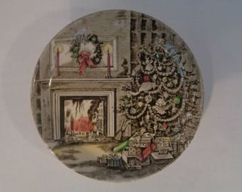 Johnson Brothers Vintage Christmas Butter Pat Dish