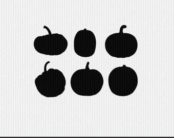 pumpkins svg dxf file stencil frame silhouette cameo cricut clip art commercial use