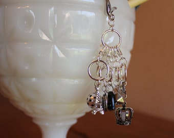 From Paris with Love Stitch Markers for Knitting and Crochet - Set of 6