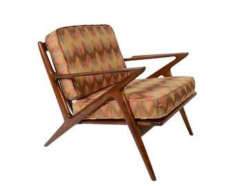 Z Chair Poul Jensen Lounge Chair Selig Danish Modern Original