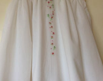 Smocked White Dress for 1, 2 and 3 year old - (Rosalie)