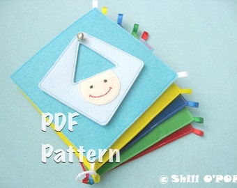 Children's Shapes And Colours Felt Quiet Book PDF Pattern Busy Book