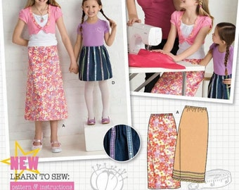 Child's and Girl's Skirts Learn to Sew Sewing Pattern - Simplicity Learn to Sew Sewing Pattern 2576 - New and Uncut