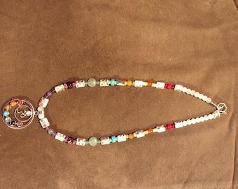 Buddhist chakra necklace