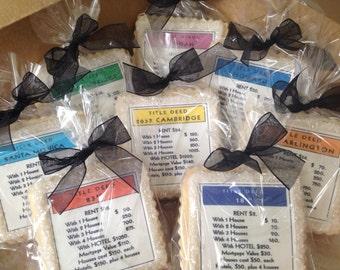 Party favors custom cookies monopoly property cards- 1 dozen