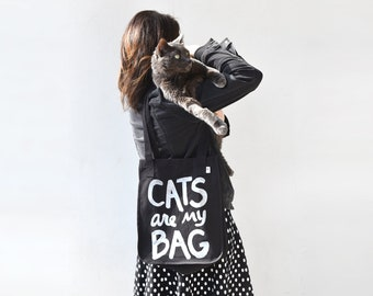 Cat Lover Gift - Cat Bag - Funny Tote Bag - Book Lover Gift - market tote bag, canvas tote bag, organic cotton, tote bag cotton, cat gifts