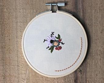 "Pe(tit)e No. 2 (~4"" Embroidery Hoop Art / Feminist Embroidery / Feminist Art)"