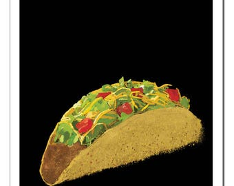Taco-Pop Art Print