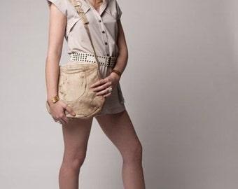 Women's Sandy Suede Circle Handbag